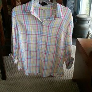 Beautiful pop-over blouse. NWT